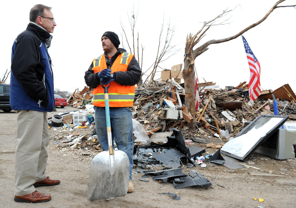 meeting with tornado survivor