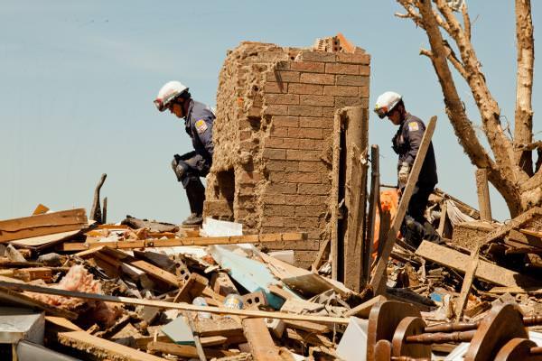 search and rescue in tornado debris